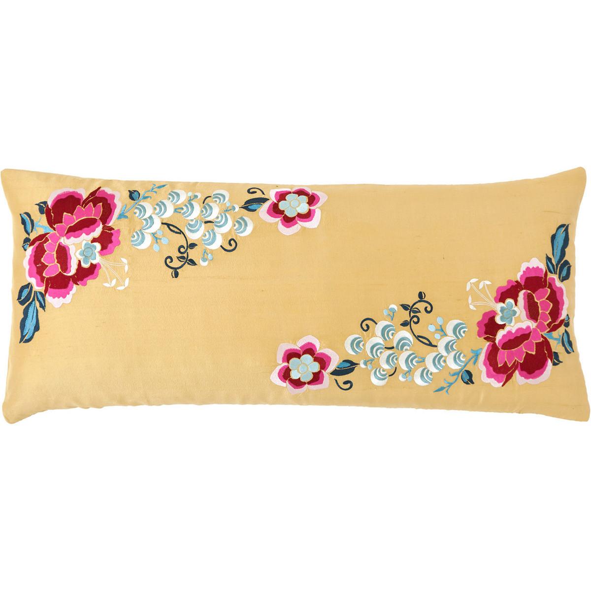 Yuri Silk Ochre Decorative Pillow
