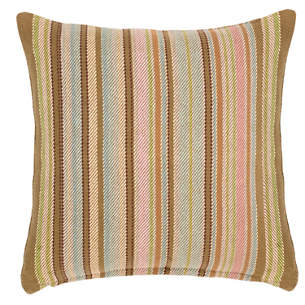 zanzibar ticking woven cotton decorative pillow - Decorative Throws