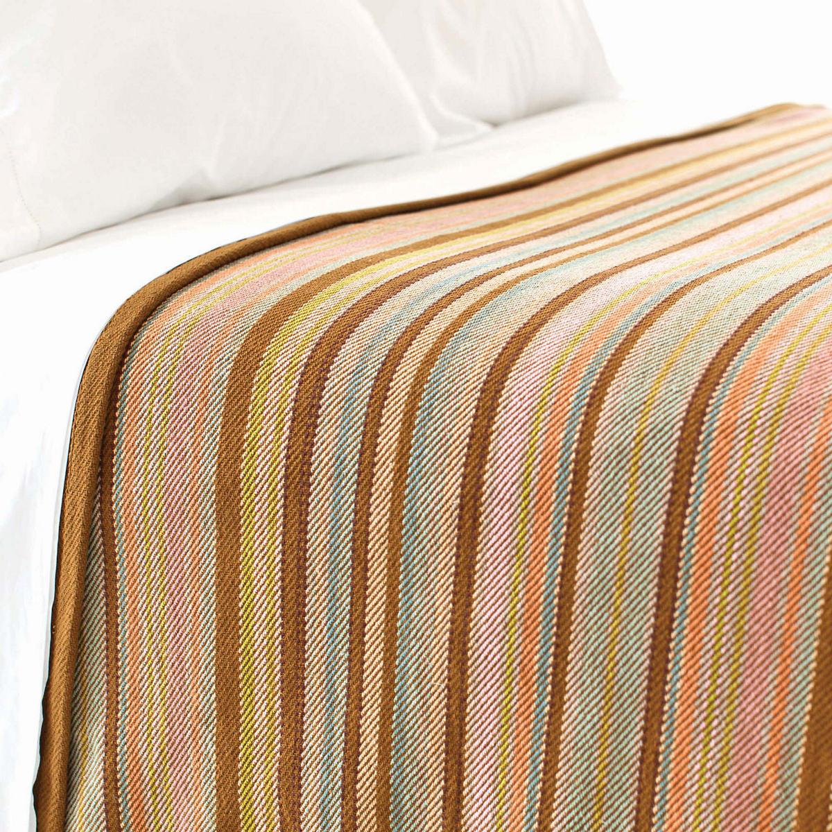 Zanzibar Ticking Blanket