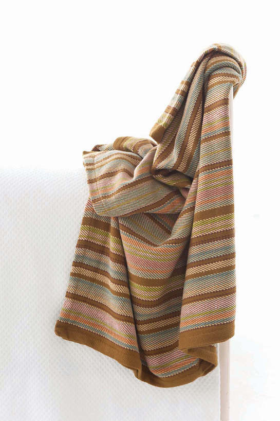 Zanzibar Ticking Woven Cotton Throw