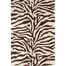Zebra Tufted/Carved Wool Rug