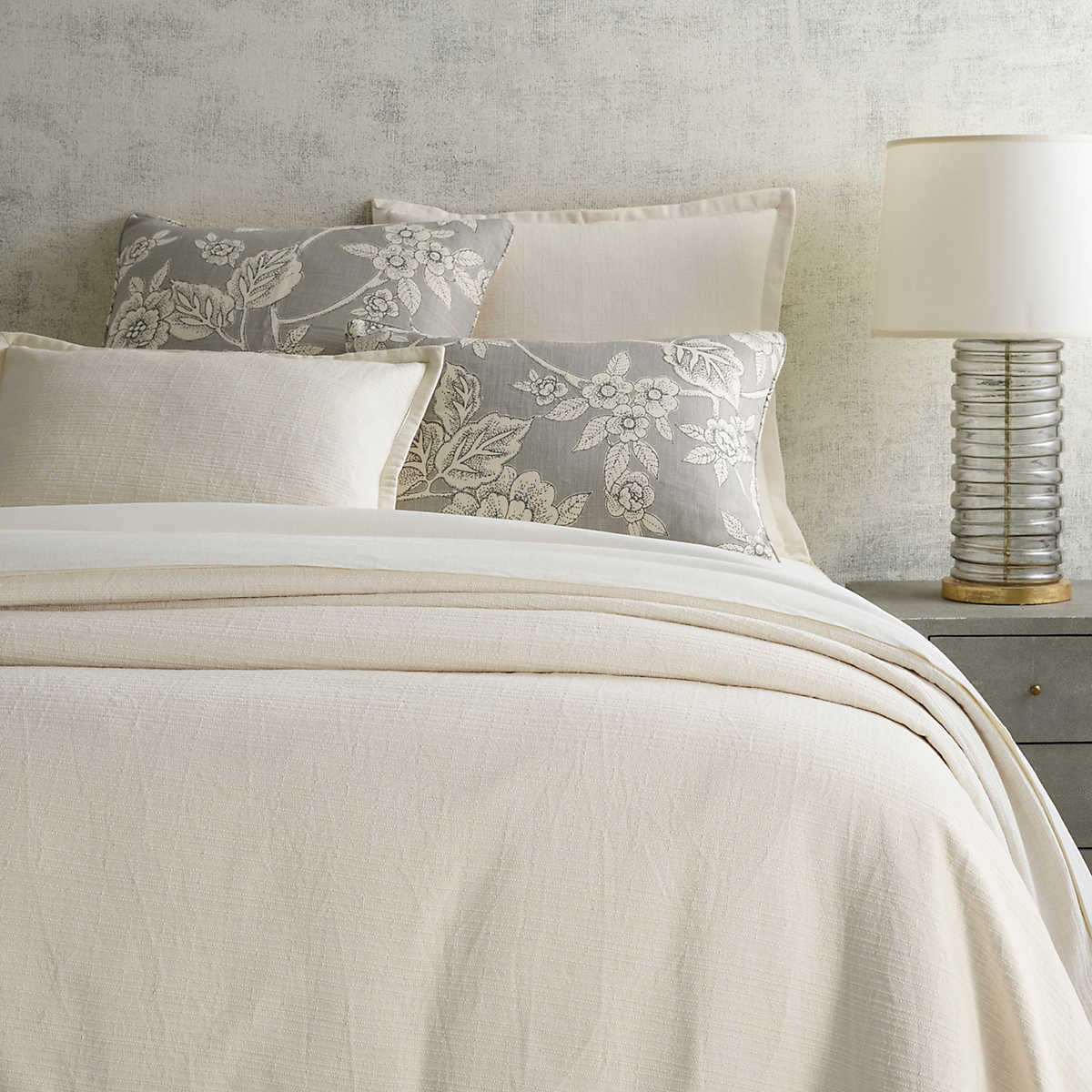 zen ivory coverlet  pine cone hill -