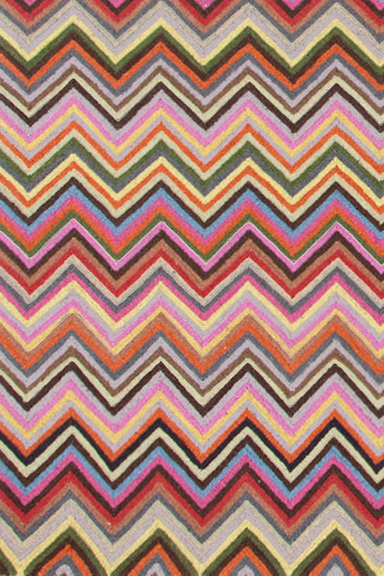High Quality Zigzag Multi Micro Hooked Rug