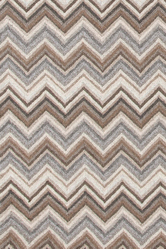 Superb Zigzag Natural Micro Hooked Rug