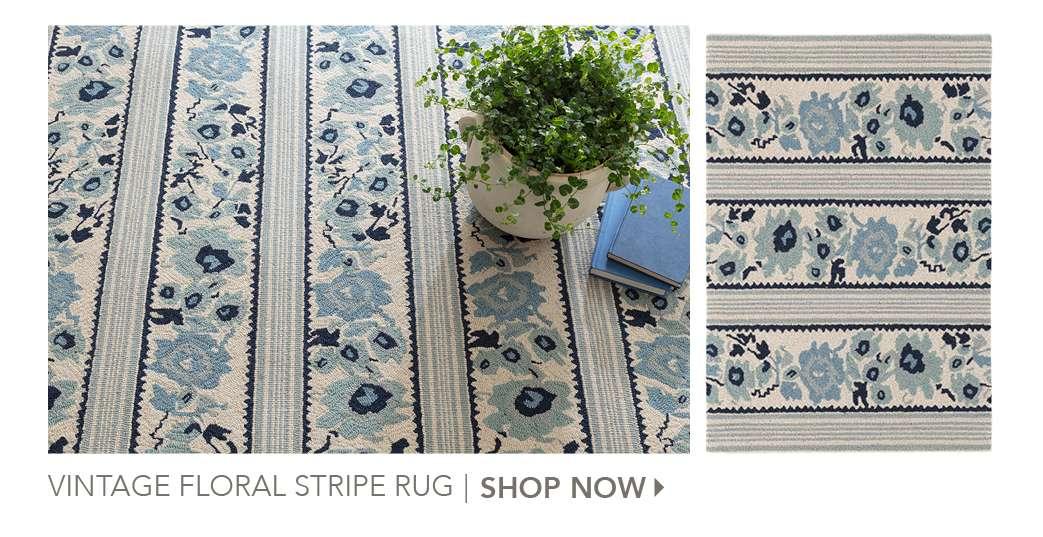Vintage Floral Stripe Rug by The Lettered Cottage. Shop Now.