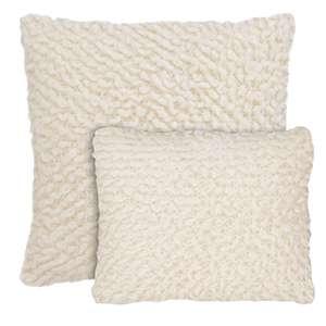 Mara Knit Ivory Decorative Pillow