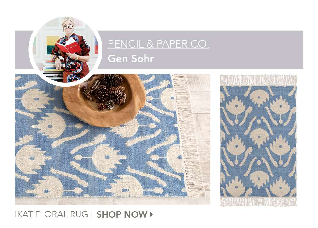 Ikat Floral Rug by Pencil and Paper Co. Shop Now.