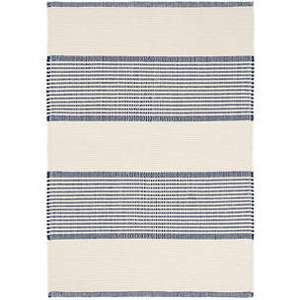 La Mirada Navy Woven Cotton Rug