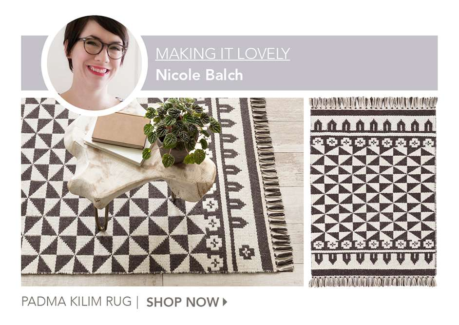 Padma Kilim Wool Rug by Making It Lovely. Shop Now.