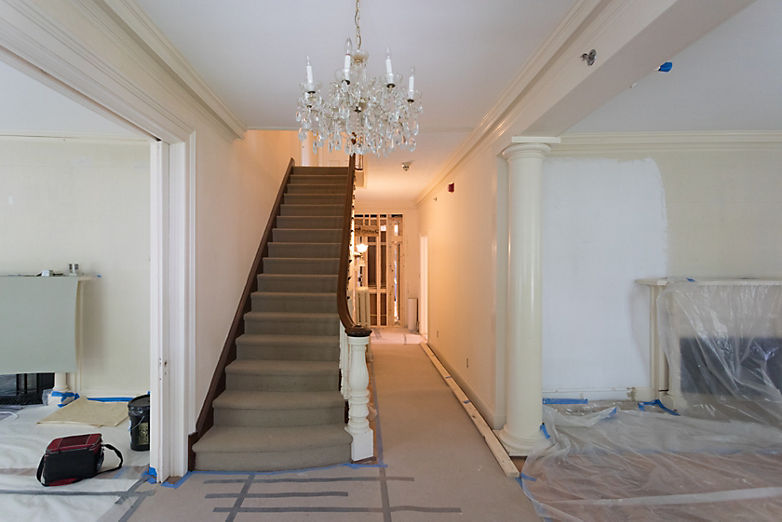 Behind The Scenes: Progress at 33 Main | Annie Selke's Fresh American Style