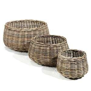 Gustavia Round Baskets Set of 3