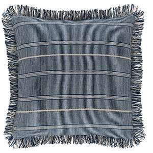 Samson Navy Woven Cotton Decorative Pillow