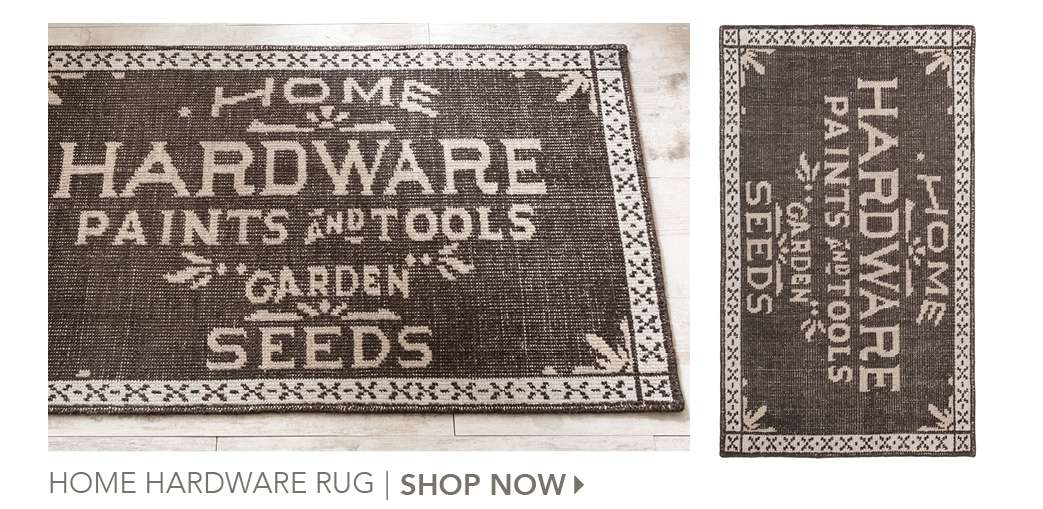 Home Hardware Rug by The Lettered Cottage. Shop Now.