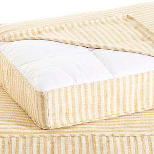 Adams Ticking Gold Dog Bed Cover