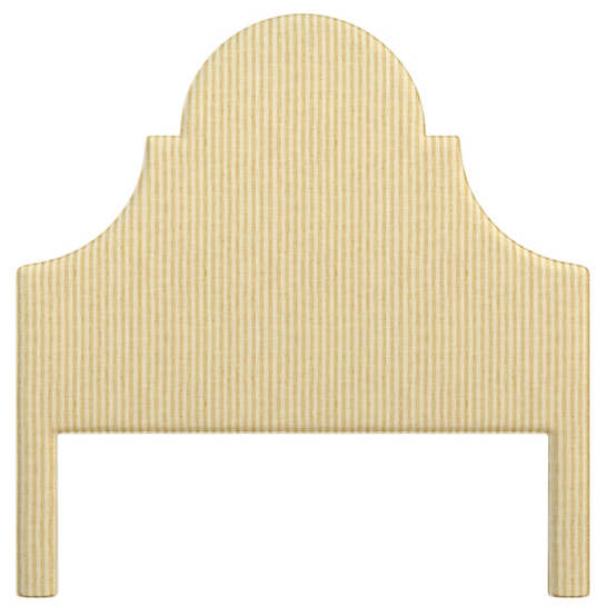 Adams Ticking Gold Montaigne Headboard