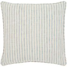 Adams Ticking Light Blue Indoor/Outdoor Decorative Pillow