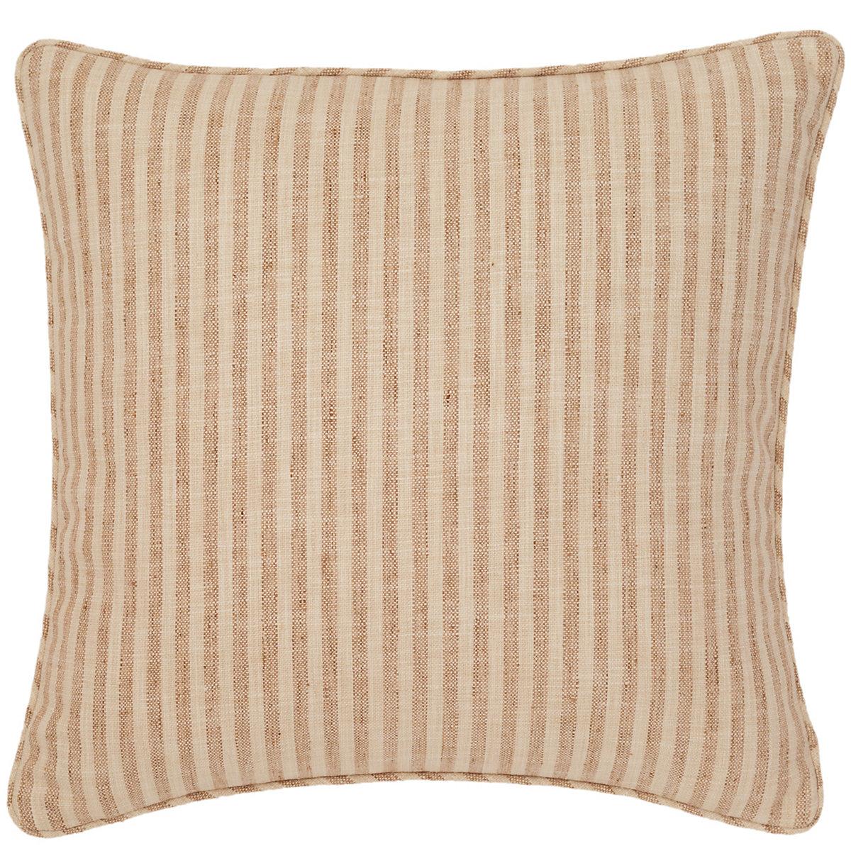 Adams Ticking Natural Indoor Outdoor Decorative Pillow