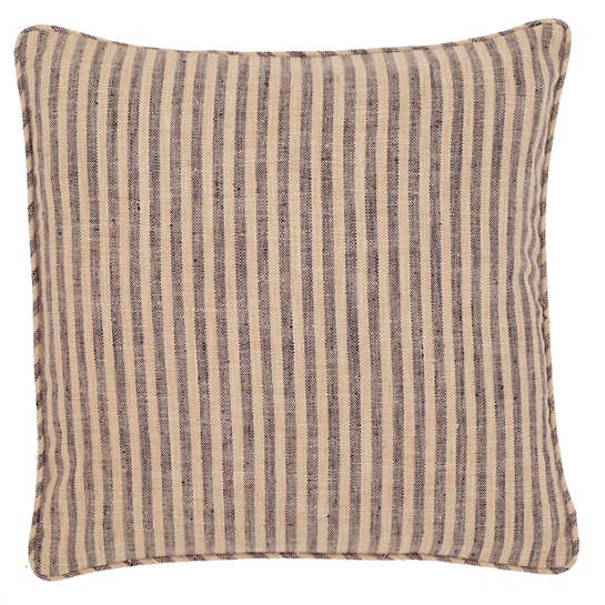 Adams Ticking Navy Indoor/Outdoor Decorative Pillow