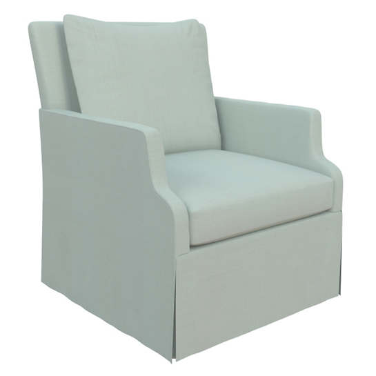 Estate Linen Powder Blue Aix Chair