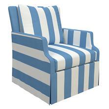 Alex French Blue Aix Chair