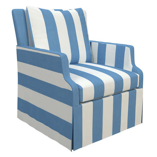 Alex French Blue Aix Chair