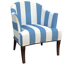 Alex French Blue Lyon Chair