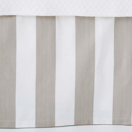 Alex Pearl Grey Paneled Bed Skirt