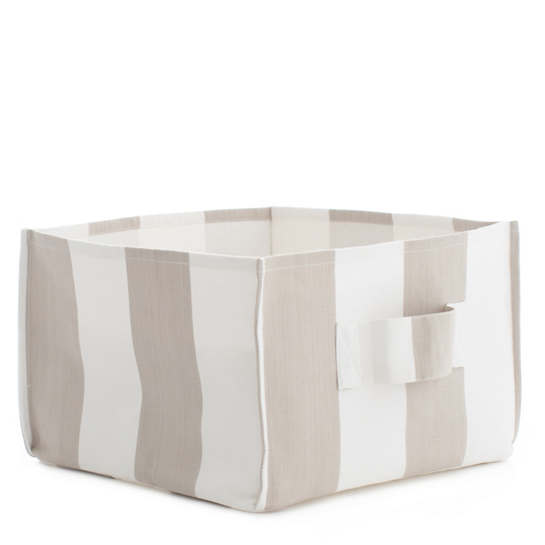 Alex Pearl Grey Square Storage Bin