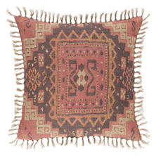 Anatolia Linen Kilim Print Decorative Pillow