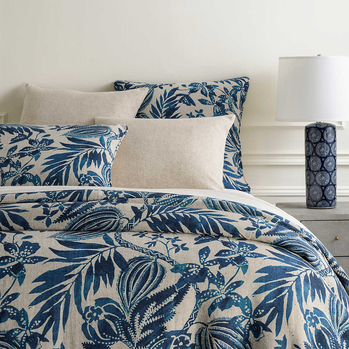 Antigua Linen Duvet Cover Pine Cone Hill