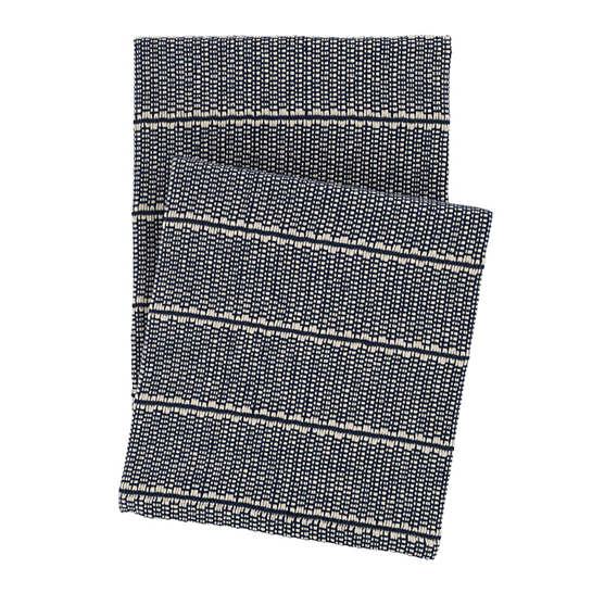 Archer Navy Woven Cotton Throw