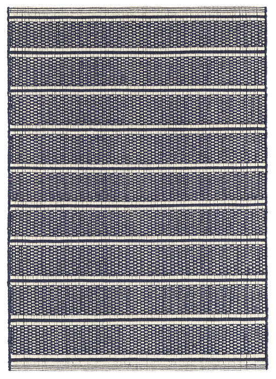 Archer Navy Woven Cotton Rug