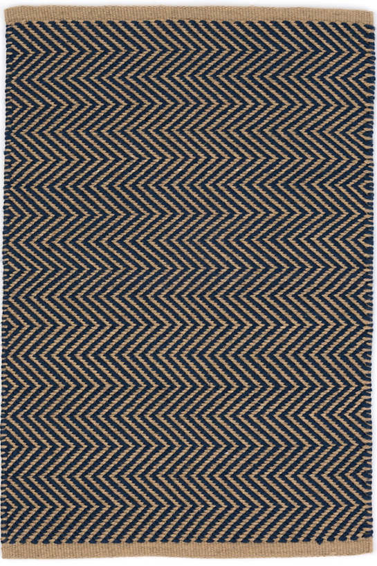 Arlington Navy Camel Indoor Outdoor Rug