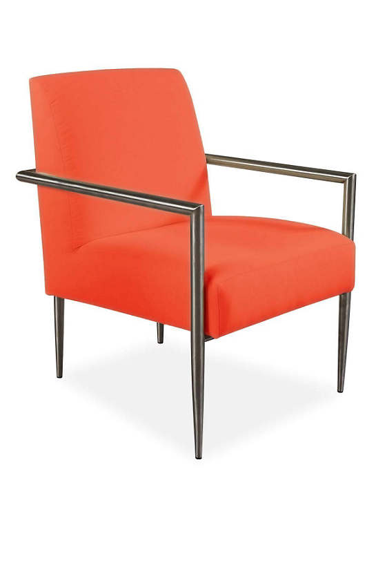 Armed And Stylish Outdoor Chair Tangerine Canvas