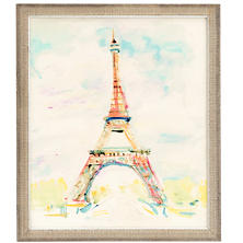 Eiffel Brushstroke Wall Art