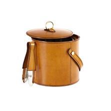 Arthur Leather Ochre Ice Bucket