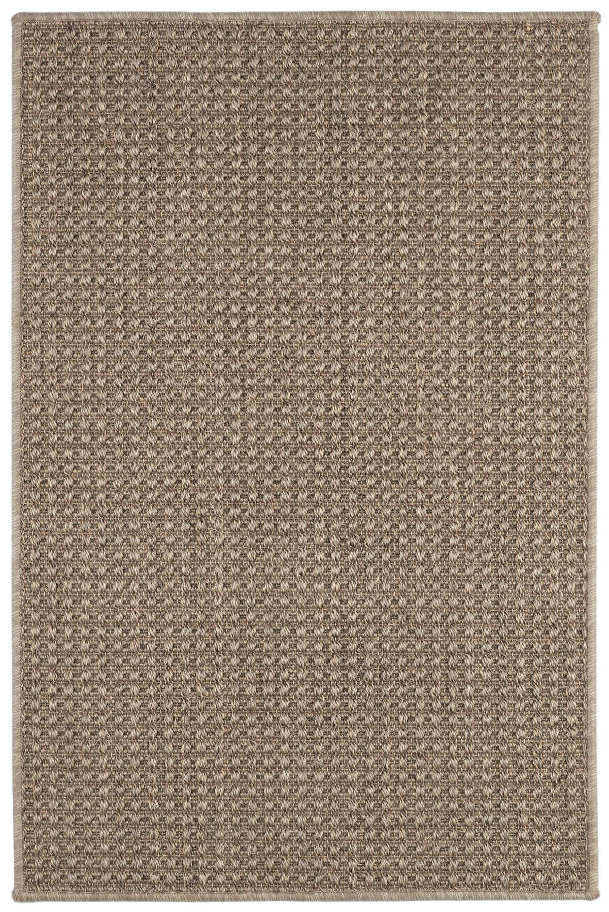 Ashburn Taupe Woven Sisal Custom Rug With Pad
