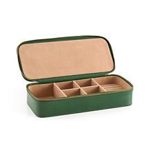 Audrey Leather Evergreen Jewelry Box
