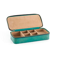 Audrey Leather Turquoise Jewelry Box