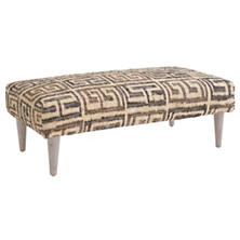 Auricula Tapered Cerused Oak Leg Rug Ottoman