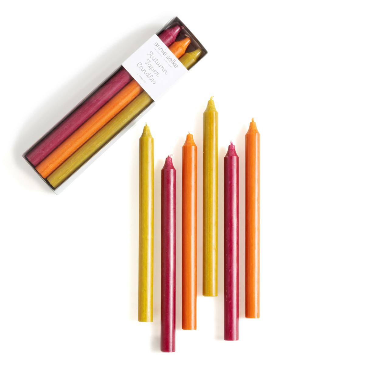 Autumn Palette Taper Candles