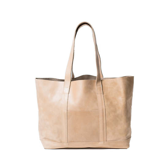 Ava Sand Leather Tote