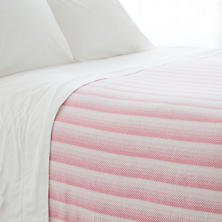 Avery Fuchsia Cotton Blanket
