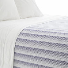 Avery Indigo Cotton Blanket