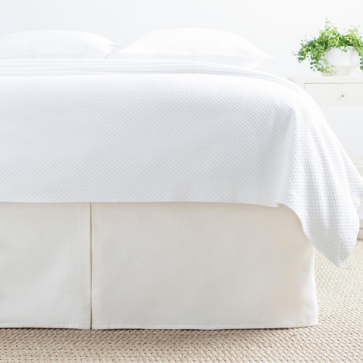 Lush Linen Ivory Bed Skirt