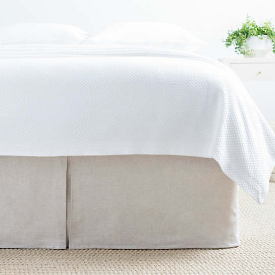 Lush Linen Natural Bed Skirt