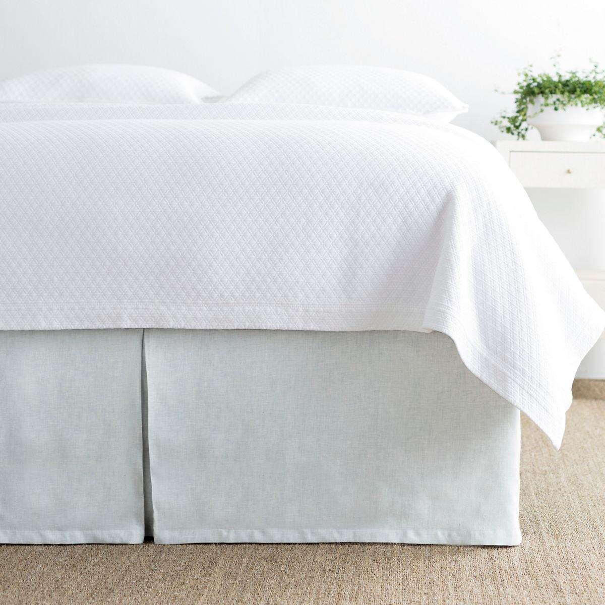 Lush Linen Sky Bed Skirt