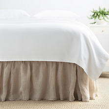 Savannah Linen Gauze Natural Bed Skirt