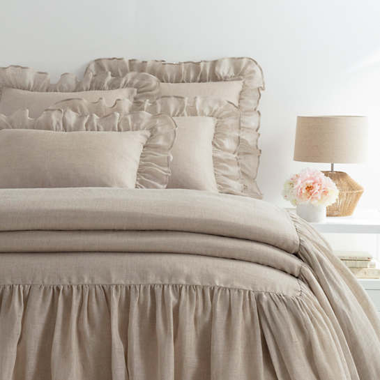 Savannah Linen Gauze Natural Bedspread