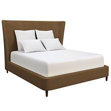 Velvesuede Camel Boulevard Bed